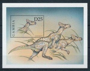 [107053] Gambia 1999 Prehistoric animals dinosaurs Sheet MNH