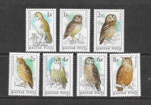 BIRDS - HUNGARY #2887-93  OWLS  MNH