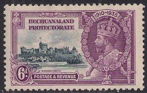 Bechuanaland 1935 KGV 6d Silver Jubilee MM SG 114 ( R720 )