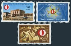 Turkey 1721-1723, MNH. Mi 2024-2026. Middle East University of Technology, 1966.