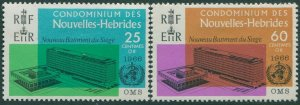 New Hebrides French 1966 SGF136-F137 WHO set MNH
