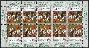 Lithuania 598 sheet,MNH.Michel 664 klb. EUROPE CEPT-1998.National Song Festival.