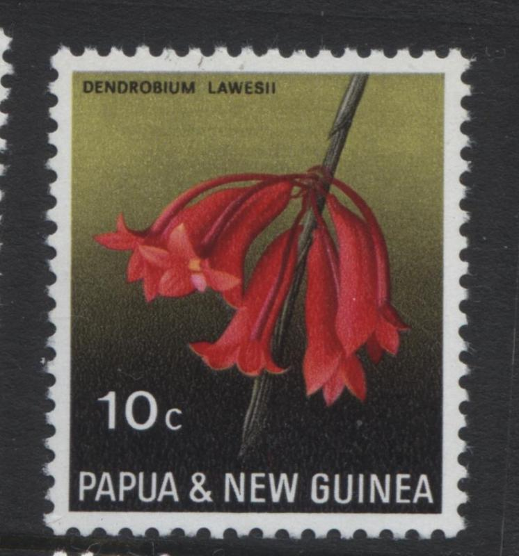 Papua New Guinea- Scott -288 - Orchids -1969 -MNH -Single 10c Stamp