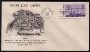 US 923 Steamship US Merchant Marine Academy Pencil FDC