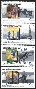 Thailand. 1992. 1456-59. Mineral Resources Department, Dinosaurs, Geology. MNH.