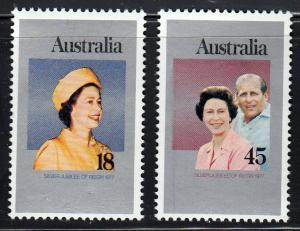 Australia #659-60 MNH Portrait of Queen Elizabeth II and Prince Philip.