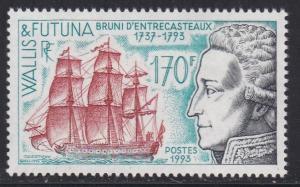 Wallis & Futuna # 447, Admiral Antoine d'Entrecasteaux, NH, 1/2 Cat.