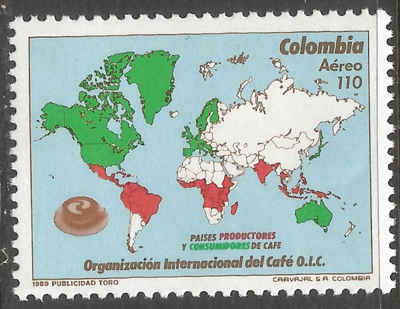 COLOMBIA C802 MNH MAP Z4910