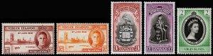 British Virgin Islands Scott 88-89, 96-97, 114 (1946-53) Mint H VF M
