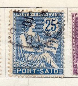 Port Said 1902 Early Issue Fine Used 25c. 272786