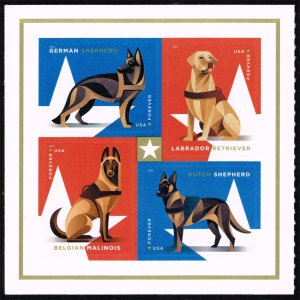 US #5408a Working Dogs Pane of 4; MNH (3Stars)