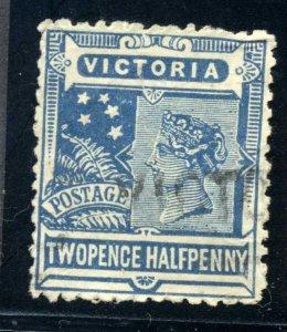 VICTORIA 2-1/2P USED SCOTT #183 Drk Blue Early Australian States VF