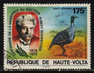 Burkina Faso C213 Schweitzer and Vulturine guinea fowl 1975