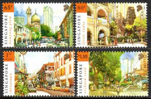 Singapore 1266-1269, MNH. Chinatown,Kampong Glam,Little India,Orchard Road, 2007