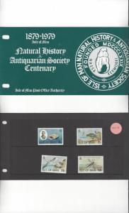 Isle of Man 142-5 Natural History 1979 MNH Presentation Pack