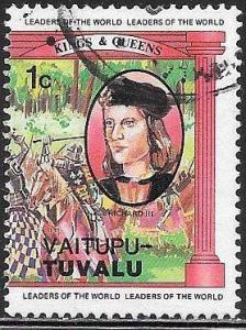 Vaitupu-Tuvalu 17 Used - British Monarchs - Richard III