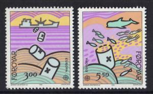 Faroe Islands  #143-144  MNH 1986   Europa  sea pollution