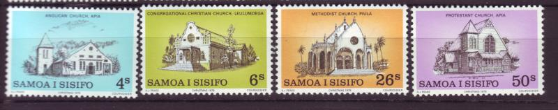J19660 Jlstamps 1979 samoa set mnh #517-20 churches