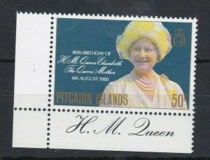 PN151) Pitcairn Islands 1980 80th Birthday of Queen Mother MUH