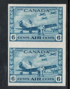 Canada #C7a Very Fine Never Hinged Imperf Pair