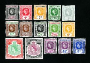 Leeward Island Stamps # 133-47 VF OG LH Catalog Value $67.75