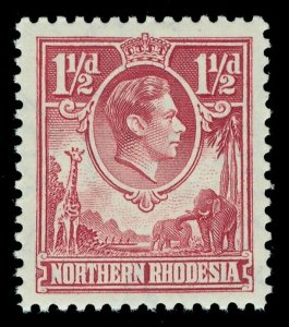 Northern Rhodesia 1938 KGVI 1½d carmine-red superb MNH. SG 29. Sc 29.