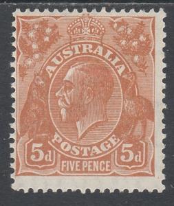 AUSTRALIA 1926 KGV 5D SMALL MULTI WMK