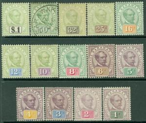 EDW1949SELL : Sarawak 1888-97 Scott #8-21 Complet Ensemble VF, Mint Og Catalogue