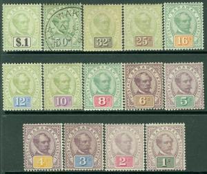 EDW1949SELL : SARAWAK 1888-97 Scott #8-21 Complete set. VF, Mint OG Catalog $590