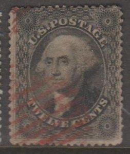 U.S. Scott #36B Washington Stamp - Cat $275 - Red Cancel - Used Single