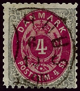 Denmark SC#22 Perf 12 1/2 w/faults Used Fine Cat $125.00...steal the deal!!