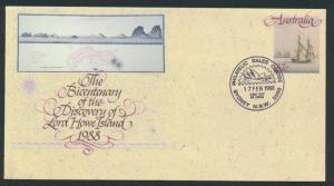 Australia PrePaid Envelope 1988 Bicentenary  Lord Howe Island