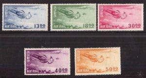 RYUKYU Scott C4-C8 MNH**  Heavenly Maiden airmail set