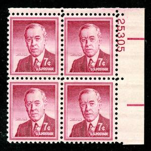 U.S. Scott 1040 FVF MNH Plate Block of 4