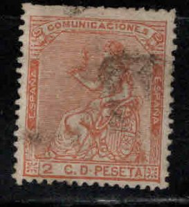 Spain Scott 191 Used, blunt perfs at top, nice centering