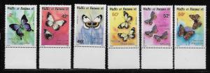 Wallis and Futuna Islands 347-52 Butterflies set MNH