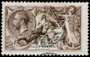 SG414, 2s 6d chocolate-brown, USED, CDS. Cat £75.