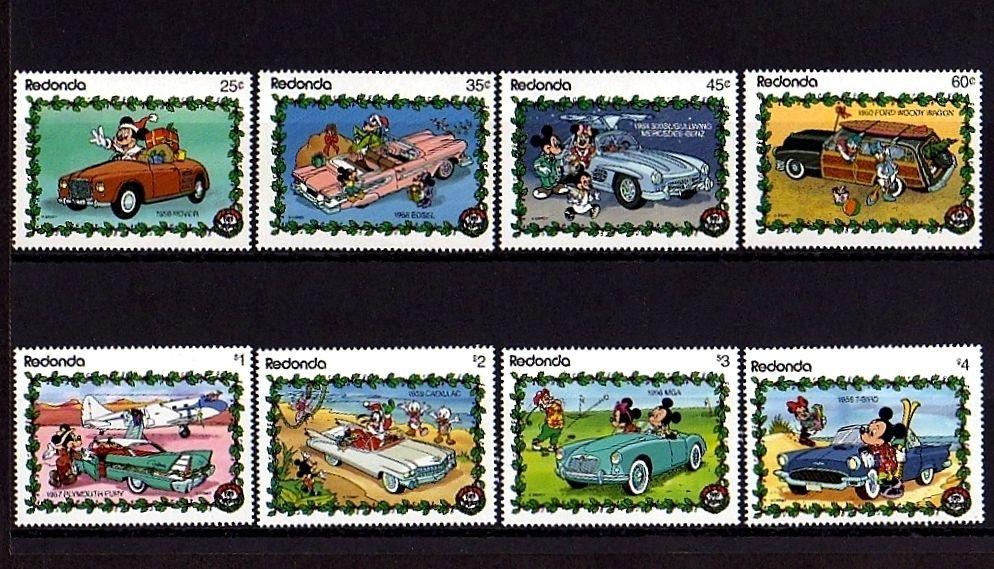 Redonda 1989 Disney Classic Cars Mickey Minnie Donald