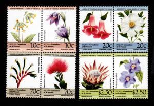 Bequia 194-197 Mint NH MNH Flowers!