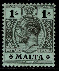 MALTA GV SG81a, 1s black/green, LH MINT.