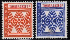 Senegal Scott J32-33 MH*  postage due stamps
