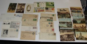 Vintage Lot of 38 Canadian Postcards & Mailed Envelopes + 1897 Postal Card