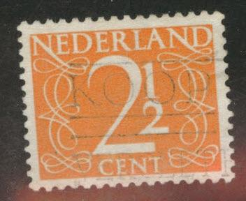Netherlands Scott 284 used 1947 key stamp