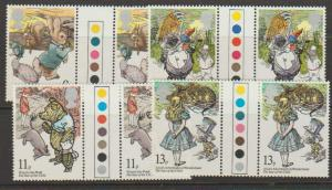 Great Britain SG 1091 - 1094 set traffic Light Gutter pairs Mint Unhinged