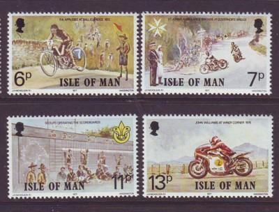 Isle Of Man MNH 101-4 Motorcycle Racing 1977
