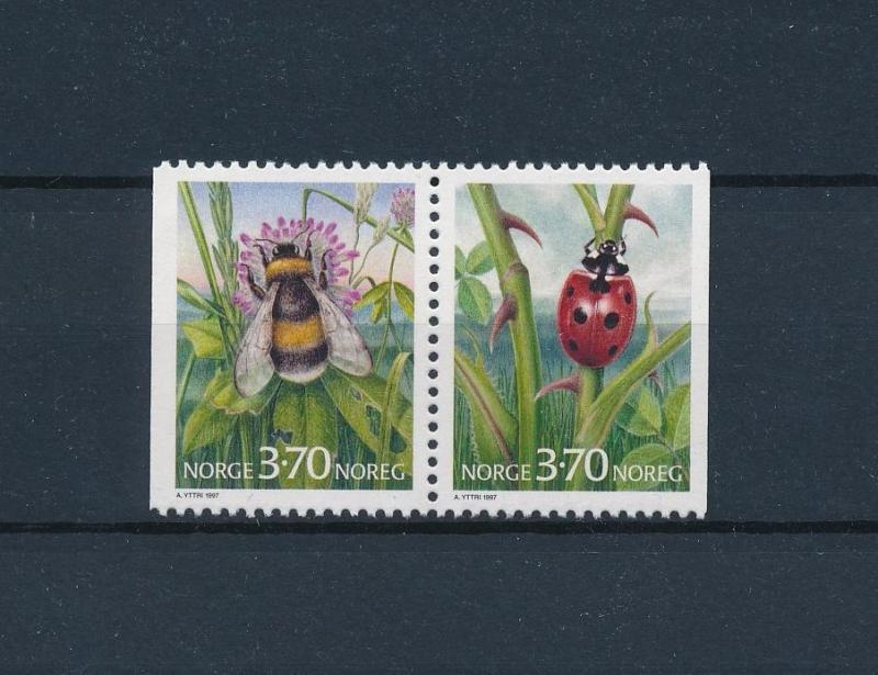 [59884] Norway 1997 Honeybee Beetle Pair from booklet MNH