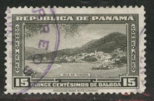 Panama  Scott C97 used 1948 15c Olive Gray stamp
