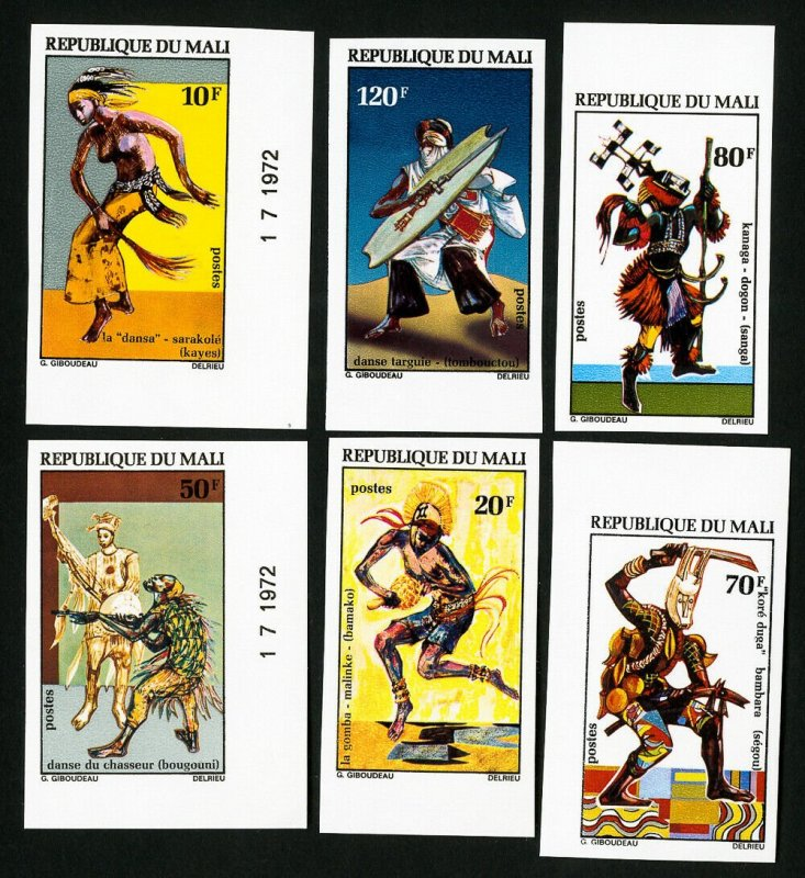 Mali Stamps # 175-80 VF NH Dances Imperforate Lot