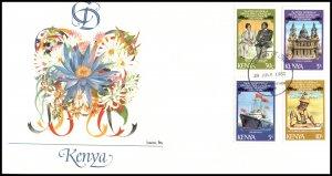 Kenya 194-197 Royal Wedding Fleetwood U/A FDC