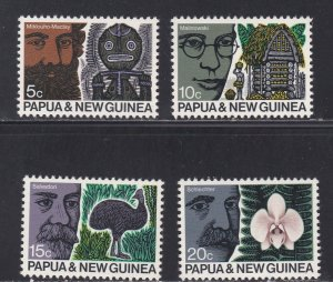 Papua New Guinea # 311-314, Advances of Science, NH, 1/2 Cat.